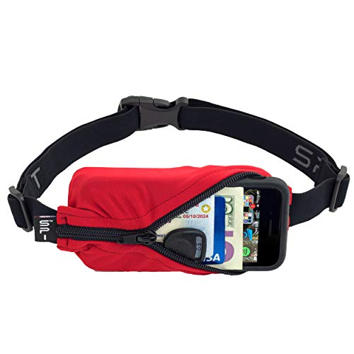 (SPIbelt Sports/Running Belt: Original - No-Bounce Running Belt for Runners, Athletes and Adventurers - Fits iPhone 6 and Other Large Phones, Red)