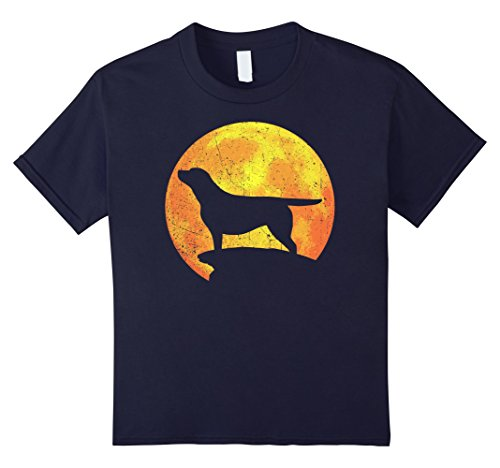 Kids CHOCOLATE LAB Orange Halloween Costume Vintage T-shirt 12 (Chocolate Lab Costumes)