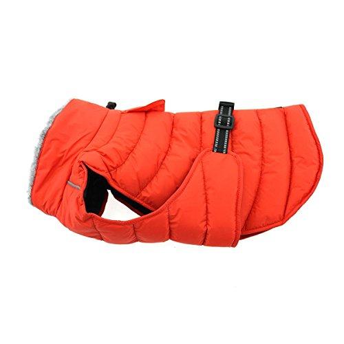 DOGGIE DESIGN Alpine Extreme Weather Puffer Dog Coat Waterproof (M, Orange)