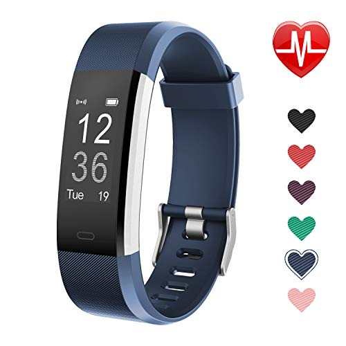 LETSCOM Fitness Tracker, Activity Tracker with Heart Rate Monitor, Step Counter, Sleep Monitor, Calorie Counter, Pedometer, IP67 Waterproof, Smart Watch for Kids Women and Men (Best Fitness Tracker For Treadmill Walking)