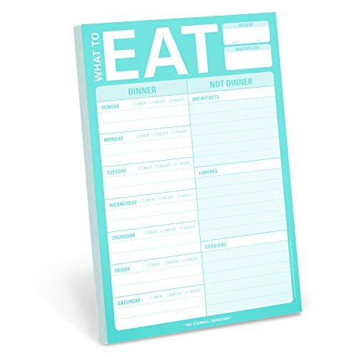 Knock Knock What To Eat Pad (Mint Green), Meal Planning Note Pad, 6 x 9-inches (Best Greens To Eat)