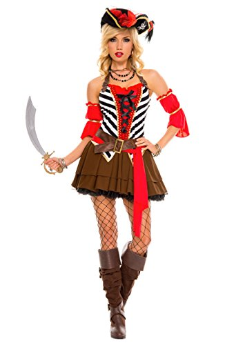 Rave Wonderland Women's Private Pirate Extra (Womens Private Pirate Costumes)
