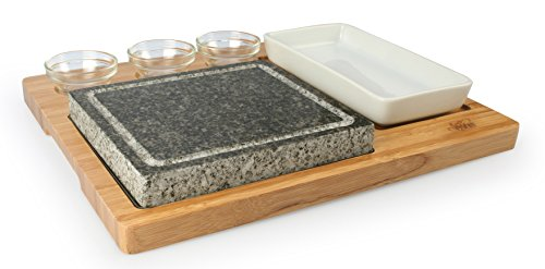 Artestia Barbecue / BBQ / Hibachi / Steak Grill Sizzling Hot Stone Set, Deluxe Tabletop Grill