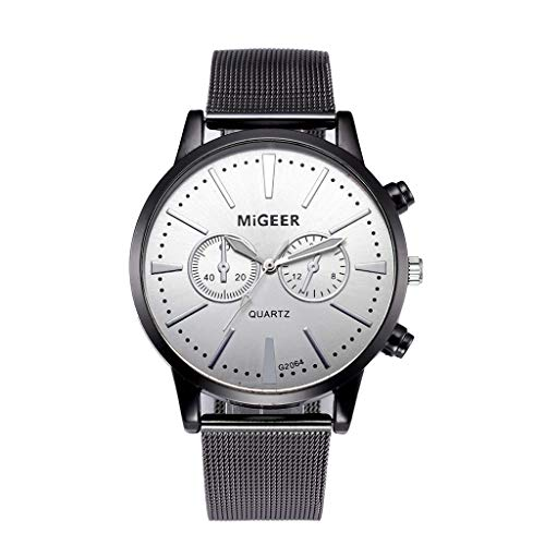 Men Classic Steel Quartz Wrist Watches Casual Watch with Milanese Mesh Strap by ()