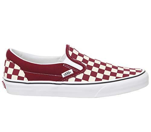 Vans Classic Slip-On (Checkerboard) Rumba Red/True White 11 Men