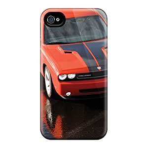 Best Hard Phone Covers For Iphone 4/4s (hdW7050uWJy) Unique Design Lifelike Dodge Challenger Image