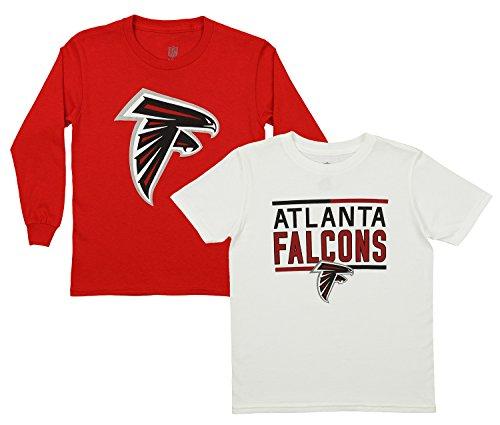 Outerstuff NFL Youth Team Flag Runner Short and Long Sleeve Set, Atlanta Falcons Medium (10-12)