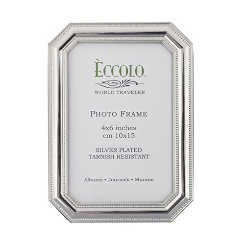 Eccolo Silver Plate Frame, 5 by 7-Inch, - Octagon Frame
