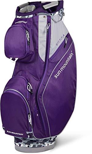 Sun Mountain Golf 2019 Sierra Women Cart Bag - Gray-Camo-Concord - Mountain Putter Golf Bag