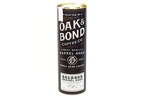 Bourbon Barrel Aged Coffee – Whole Bean Coffee, Brazil Single Origin Whole Bean Coffee Aged in Bourbon Whiskey Barrels by Oak & Bond Coffee Co. – 10 oz