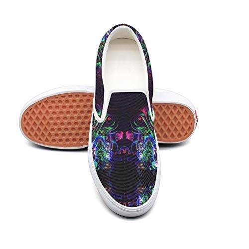 VXCVF Trippy Mushroom Evil Eyes Psychedelic Male Canvas Shoes Stylish shoefor Mens