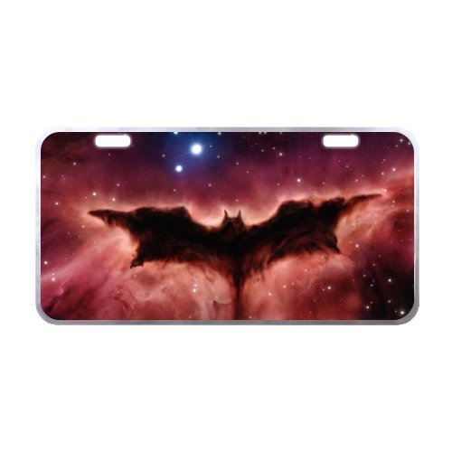 Space Bat License Plate with Personalized and Novelty -11.8