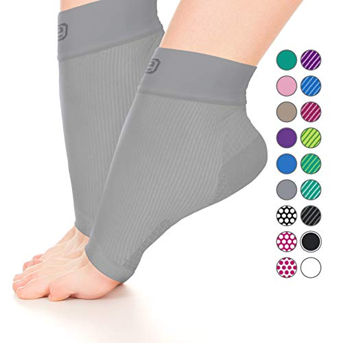 Plantar Fasciitis Sock, Compression Socks for Men Women - Best Ankle Sleeve for Arch Support, Injury Recovery and Prevention - Relief from Joint and Foot Pain, Swelling, Achy Feet (2p Solid Gray, M)