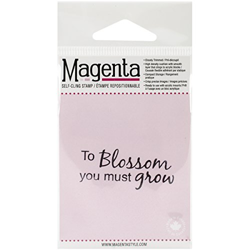 Magenta Cling Stamps, 1-Inch by 2-Inch, ()