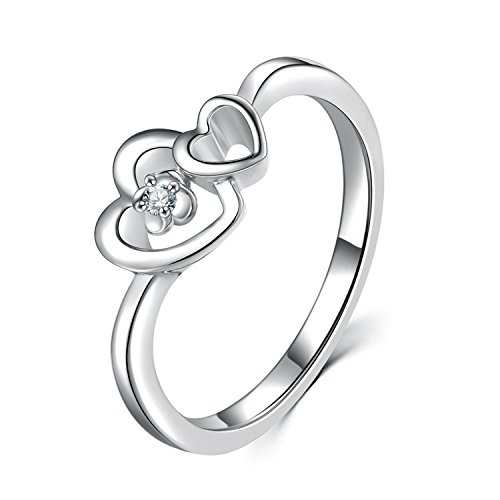 Bang-pa Luxury Diamond Rings 925 Sterling Silver Heart Engagement Rings Diamond Jewelry Lover Diamond Ring - Gucci Diego San Store
