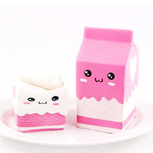 Kawaii Squishy Milk Carton Bottle Toy Cream Scented Jumbo Slow Rising Hand Stress (Bottle Carton)