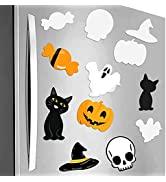 AUREUO Halloween Decoration Refrigerator Magnets Magnetic Mini Canvas Boards for Painting Set for...