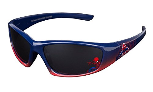 Spiderman Marvel Comics Boys Kids Fun Time Spider-Man Sunglasses - 100% UVA & UVB Protection (Blue/Red 2 Tone) ()