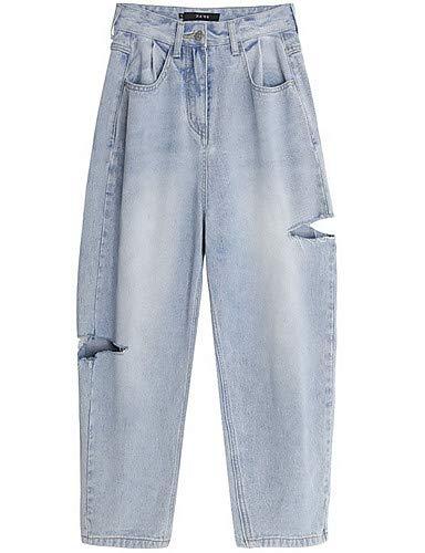 Jeans pour Blue Femme Pantalon Basic Couleur Unie YFLTZ Light xqFHE