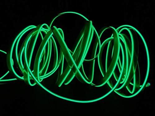 2M / 6FT USB Neonlicht Elektrolumineszenzdraht Glowing Strobing Dekorative Licht für Weihnachtsparty Pub Kostüm Cosplay Festival Dekoration(Grün)