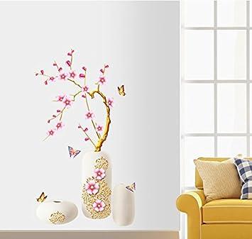 Reyqing Applique Salon Murale Chambre Sticker La VaseLe OPXuTikZ