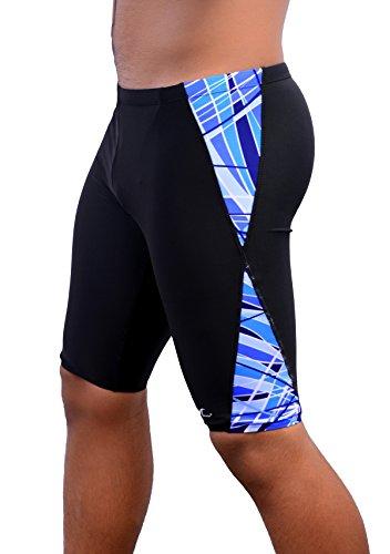 Adoretex Spice Mens Jammer Swimsuit (UMJ011) - Black/Sky Blue - 36
