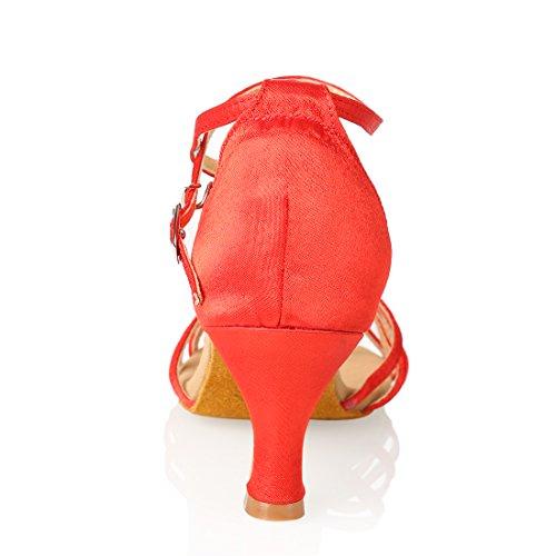 Women's Dance Shoes Ballroom Latin Shoes Red uBHpiQSH