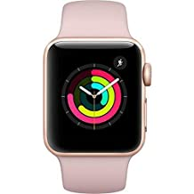 Apple Watch Series 3 - GPS - Gold Aluminum Case with Pink Sand Sport Band - 38mm