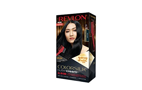 Revlon Colorsilk Buttercream Hair Dye, Blue Black, 1 Count