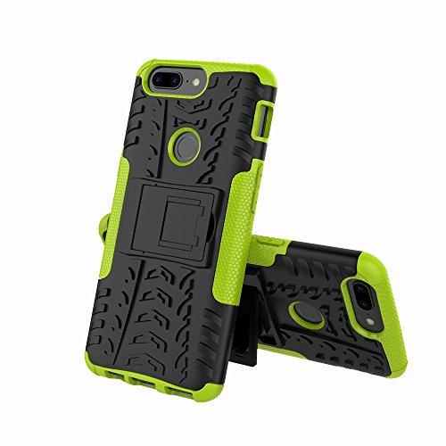 CarcasaOnePlus 5T, LifeePro Funda de la Caja del Teléfono a Prueba de Golpes TPU + PC Armadura Combinada híbrida Caso de Alto Impacto Durable Phone Defender (Verde) Verde