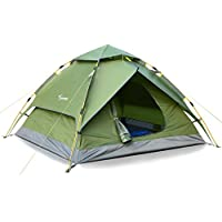 Sportneer Camping Tent 3-4 Person Automatic Instant Pop...