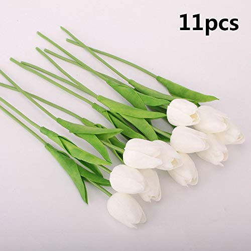 (Annibus Flower Tulip Tulip Artificial Flowers 11/31PCS Decorative Flower Wedding Real Touch PU Bride Bouquet for Home Decoration Fake Flores)