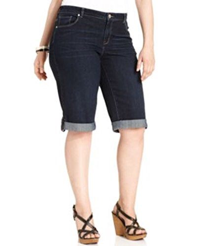 Style&co Women Shorts Cuffed Denim Caneel Wash Plus Size 14w
