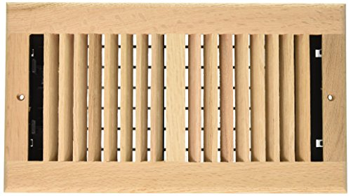 Decor Grates WL612W-U 6-Inch by 12-Inch Wood Wall Register, Unfinished Oak (Wall Unfinished Oak)