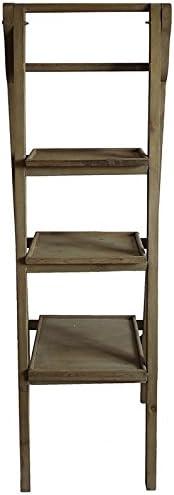 LHéritier Du Temps Estantería Escalera – Mueble Escalera – Escalera Biblioteca Expositor de Madera con 3 Plantas Plegable 45 x 45 x 137 cm: Amazon.es: Hogar