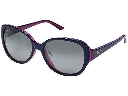 Maui Jim - Swept Away - Blue With Raspberry Interior Frame-Neutral Grey Polarized - Nalani Maui Sunglasses Jim