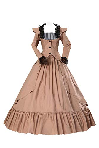 Keppler Womens Gothic Victorian Dress Lace Up 18th Century Party Wedding Dresses Medieval Costume ()