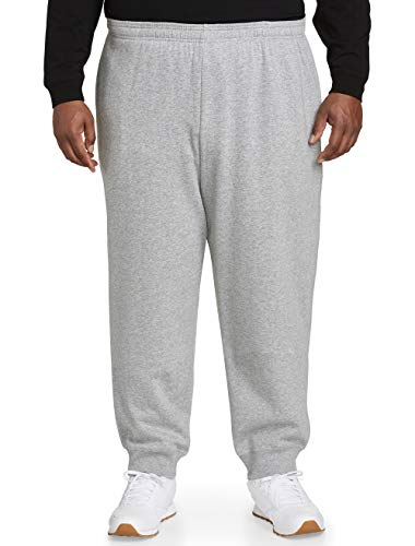 Sweatpants 3 - Amazon Essentials Men's Big and Tall Closed Bottom Fleece Pant fit by DXL, Light Gray Heather, 3X