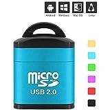 Portable Mini USB 2.0 Micro SD TF T-Flash Memory Card Reader Adapter Flash Drive SD Flash Memory Card Reader Blue