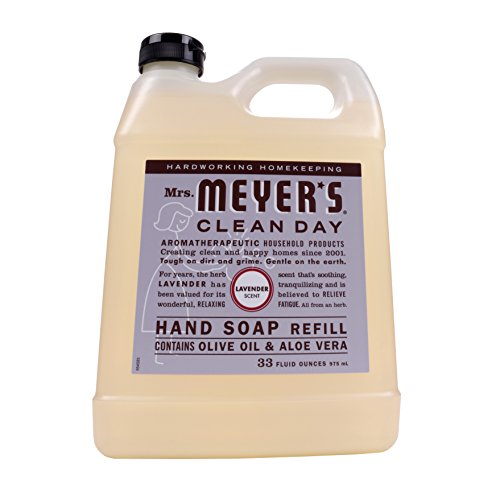 Soap Hand Basil (Mrs. Meyers Clean Day Hand Soap Refill, Lavender 33 oz)