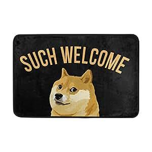 naanle entrada Felpudo tipo bienvenido perro Felpudo interior y exterior para algodón MATERIAL Tela de poliéster Top 15,7x 23,6pulgadas