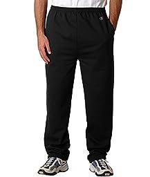 Champion Men\'s Open Bottom Eco Fleece Sweatpant, Black, Large