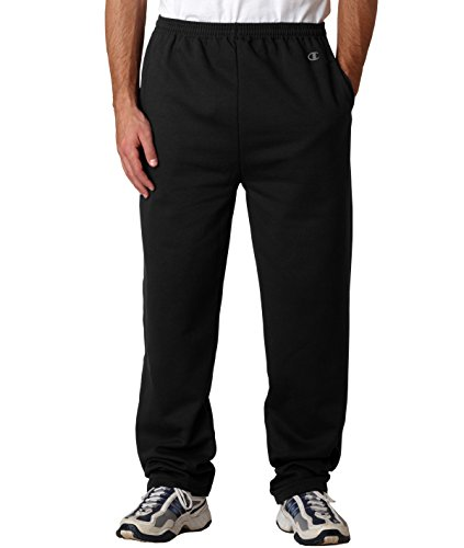 Champion Men's Open Bottom Eco Fleece Sweatpant, Black, ()