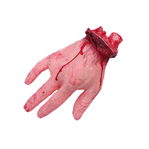 AMA(TM) Halloween Bloody Hand Horror Bar Haunted House Props Tricky Toys Party Decoration (A) (Life Size Severed Hand)