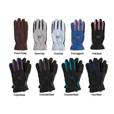Ovation Ladies Polar Suede Fleece Glove PurpleBlack, Medium
