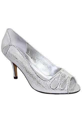 Fantasia Boutique Damen Clogs & Pantoletten - Silber (Schuh Nur), 36