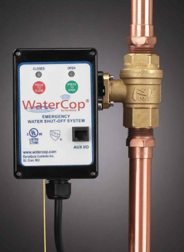 WaterCop Classic Motorized Actuator W/Lead Free Water Valve, 1 In.