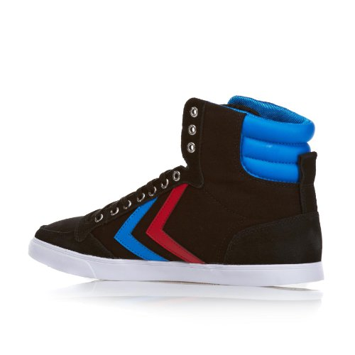 Hummel Slimmer Stadil High Canvas Black Red Blue Mens Trainers Boots 1OcEHlD
