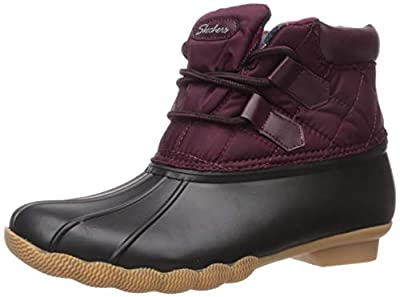 Skechers Women's Hampshire Ridge-Mid Quilted Lace Up Duck Boot with Waterproof Outsole Rain