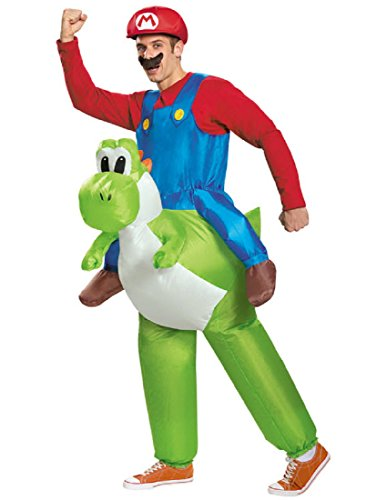 Child's Boys Inflatable Super Mario Brothers Riding Yoshi Costume One (Boys Yoshi Costume)